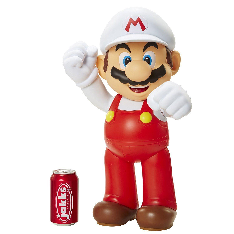 Boneco Mario Fire: Nitendo World 50cm - Jakks Pacific