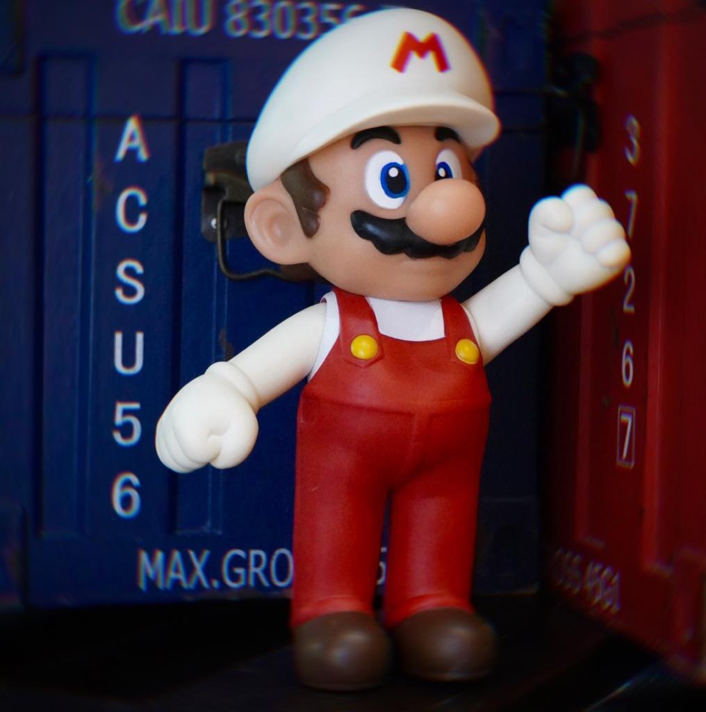Boneco Mario Fire: Super Mario Bros World (20Cm) - EV