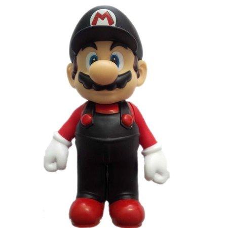 Boneco Mario Vermelho e Preto: New Super Mario Bros Desktop Sofbi Series - Bandai