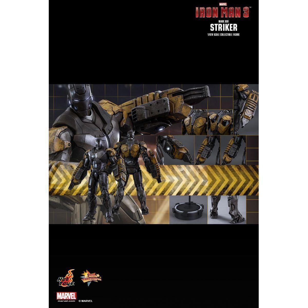 Action Figure Homem de Ferro (Iron Man) (Mark XXV) (Striker): Homem de Ferro 3 (Iron Man 3) Escala 1/6 (MMS332) - Hot Toys