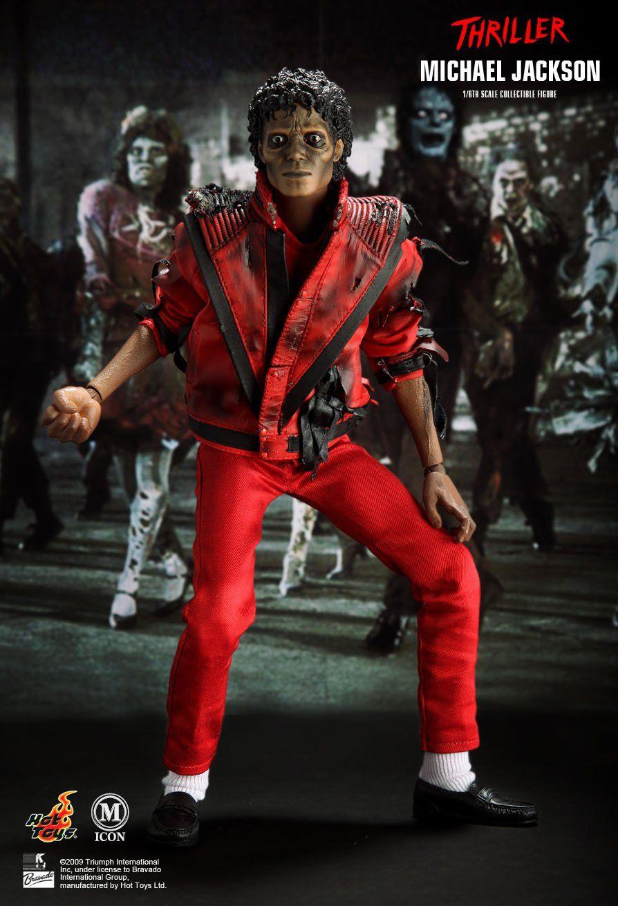 Boneco Michael Jackson (Thriller Version): Music Icon Series Escala 1/6 (MIS09) - Hot Toys