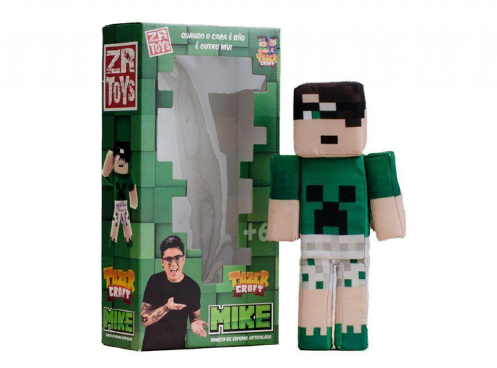 Boneco Mike Tazer Craft: Minecraft - ZR Toys