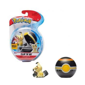 Boneco Mimikyu e Bola Luxuosa Luxery Ball: Pokémon (Clip'n'Go) - Sunny