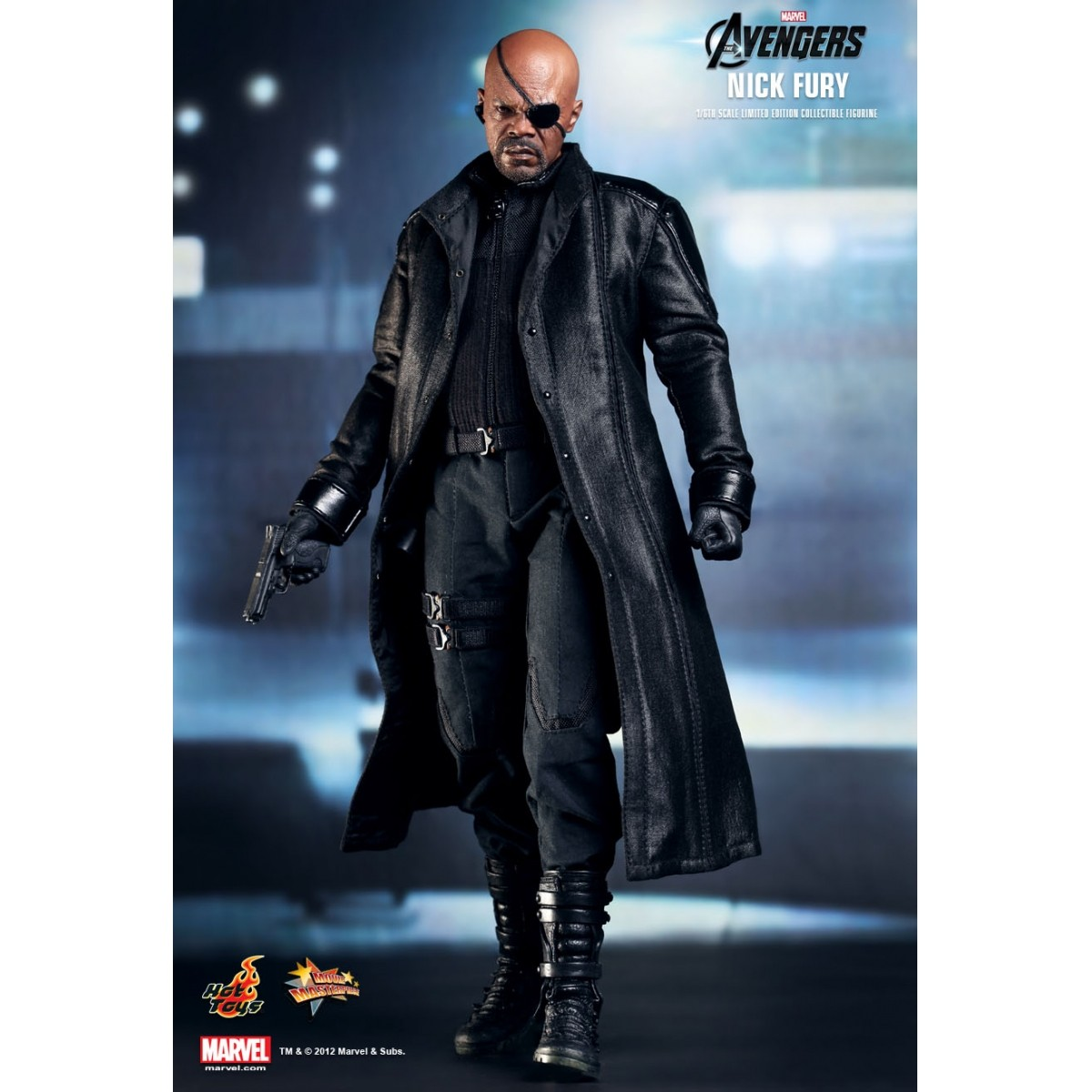 Action Figure Nick Fury: Os Vingadores: The Avengers (Escala 1/6) MMS169 Boneco Colecionável - Hot Toys