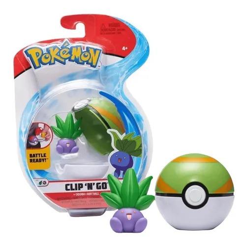 Boneco Oddish e Bola Ninho Nest Ball: Pokémon (Clip'n'Go) - Sunny