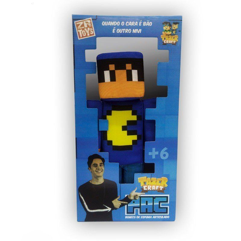 Boneco Pac TazerCraf: Minecraft - ZR Toys