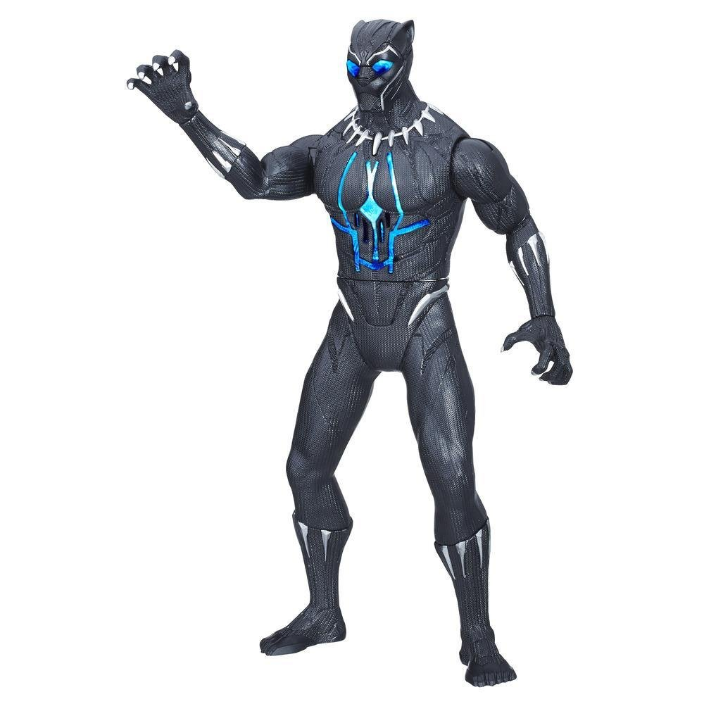 Boneco: Pantera Negra (Black Panther) Com Som e Luz - Hasbro