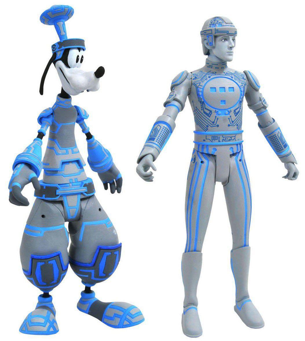 Action Figure Pateta & Tron (Goofy & Tron): Kingdom Hearts (Series 3) Boneco Colecionável - Diamond Select