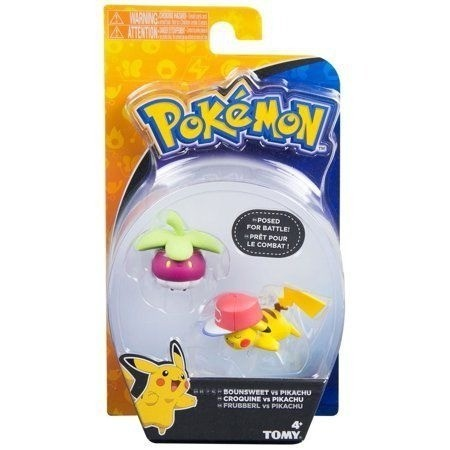 Boneco Pikachu e Bounsweet: Pokémon (Sun e Moon) - Sunny