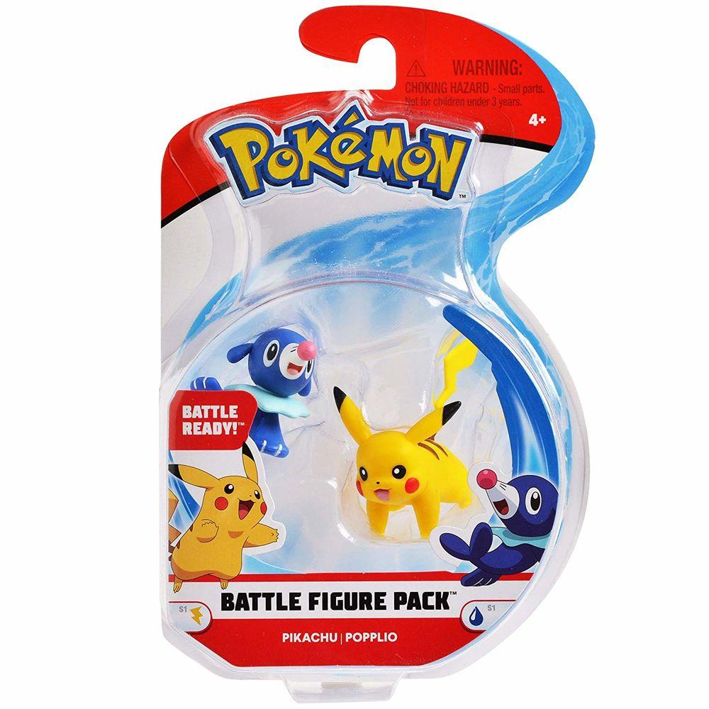 Boneco Pikachu & Popplio: Pokémon (Battle Figure) - DTC