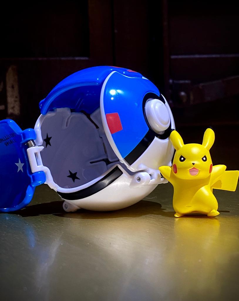 Boneco Pikachu Great Ball Pops: Pokémon - Sunny