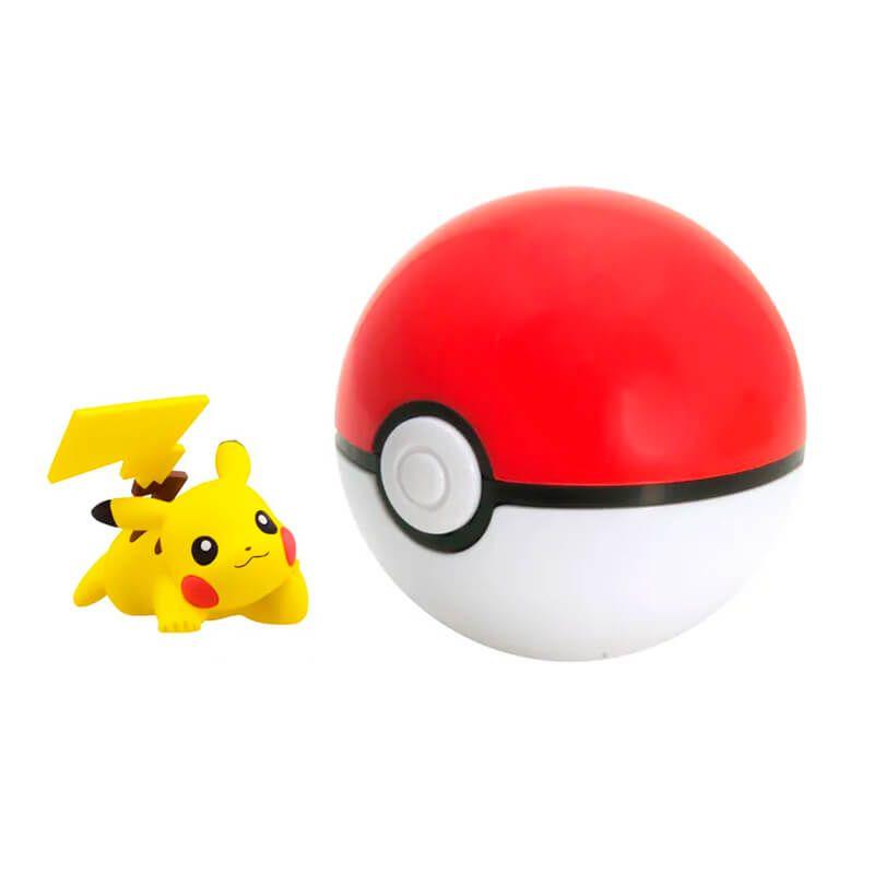 Boneco Pikachu + PokeBall: Pokémon - Sunny
