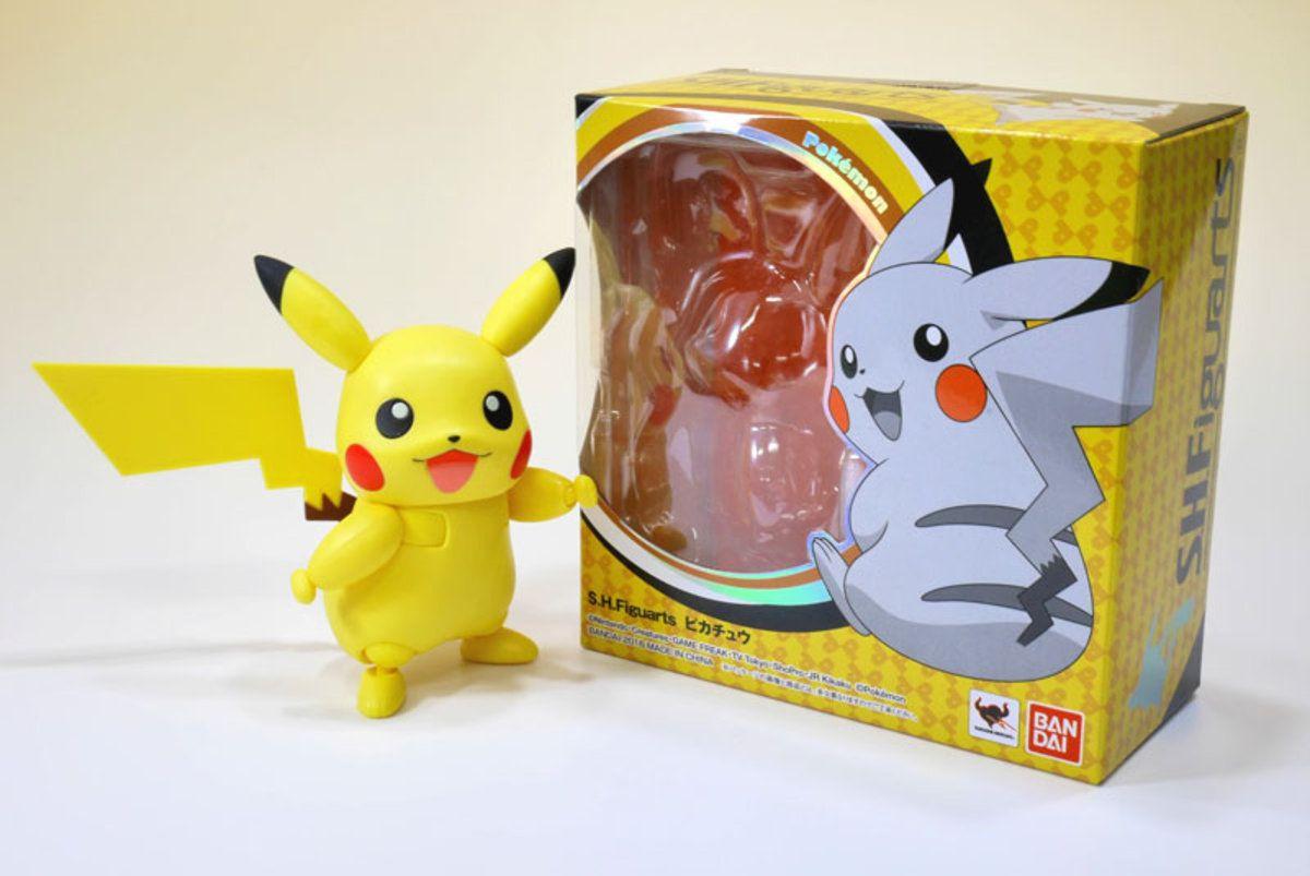 Boneco Pikachu SHFiguarts: Pokémon - Bandai
