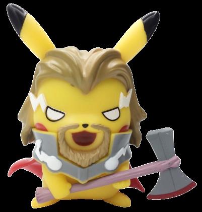 Boneco Pikachu Thor:  Pokevengers (Pokemon) (Avengers Vingadores)