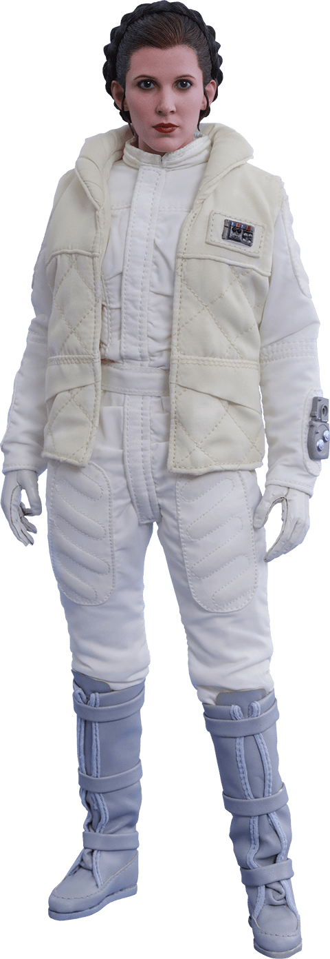 Boneco Princesa Leia (Princess Leia): Star Wars O Império Contra-Ataca (The Empire Strikes Back) MMS423 Escala 1/6 - Hot Toys