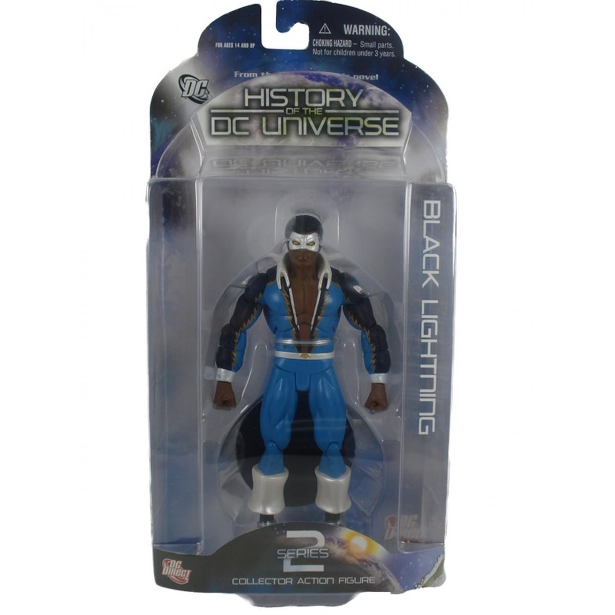 Boneco Raio Negro (Black Lightning): History of the DC Universe Series 2 - DC Direct
