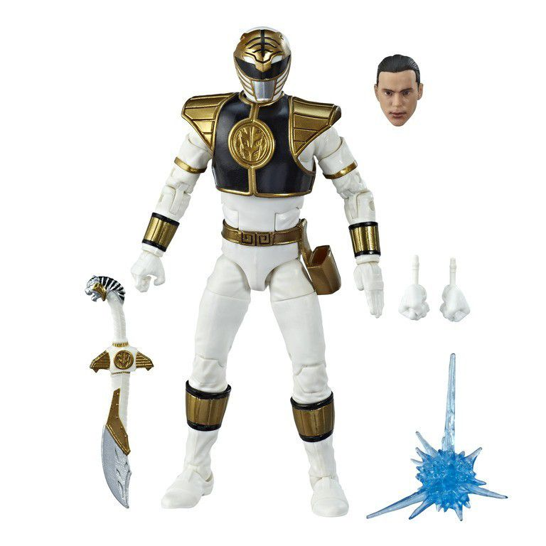 Action Figure Ranger Branco (White Ranger): Power Rangers (Lightning Colection) Boneco Colecionável - Hasbro