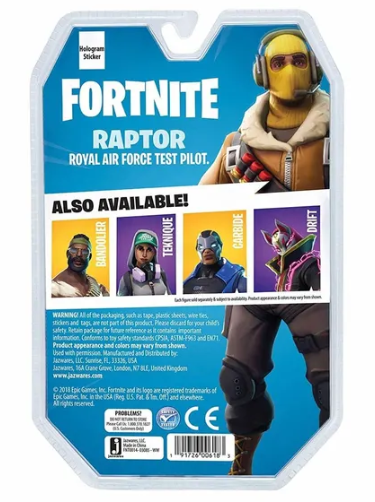 Boneco Raptor (Solo Mode): Fortnite - Sunny