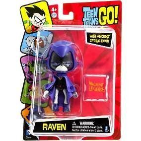 Boneco Ravena Com Livro Asião: Jovens Titãs (Teen Titans Go)
