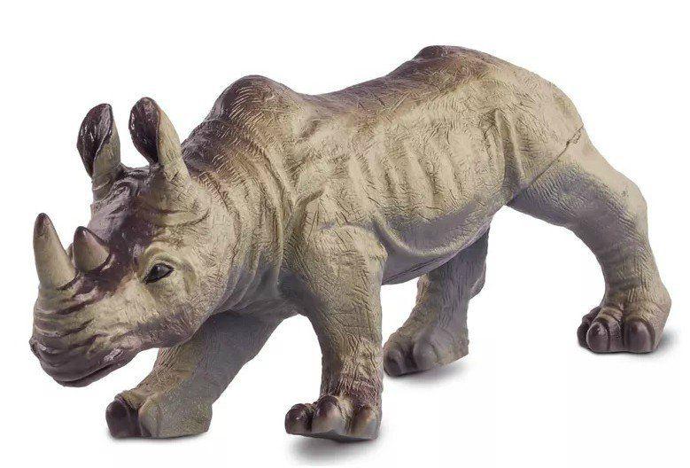 Boneco Rinoceronte: Animais da Selva (Bicho Mundi) - DTC