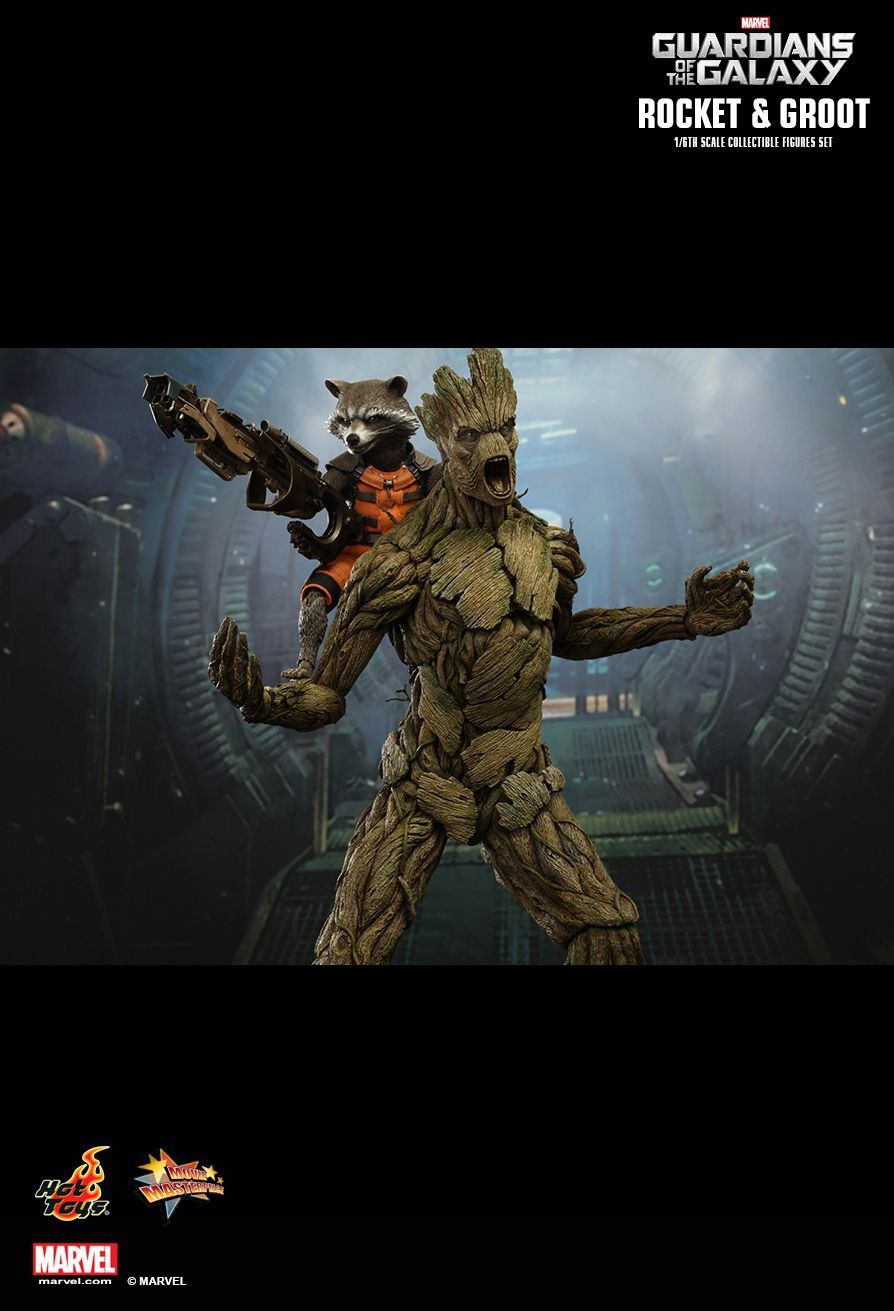 Boneco Rocket Raccoon e Groot: Guardiões da Galáxia (Guardians of the Galaxy) Escala 1/6 (MMS254) - Hot Toys (Apenas Venda Online)