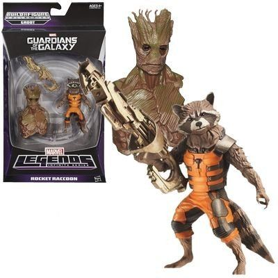 Boneco Rocket Raccoon: Guardiões da Galáxia (Marvel Legends Series) - Hasbro