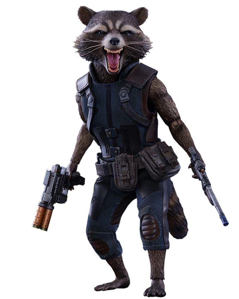 Boneco Rocket Raccoon: Guardiões da Galáxia Vol. 2 (Guardians of the Galaxy Vol. 2) Escala 1/6 (MMS410) - Hot Toys (Apenas Venda Online)