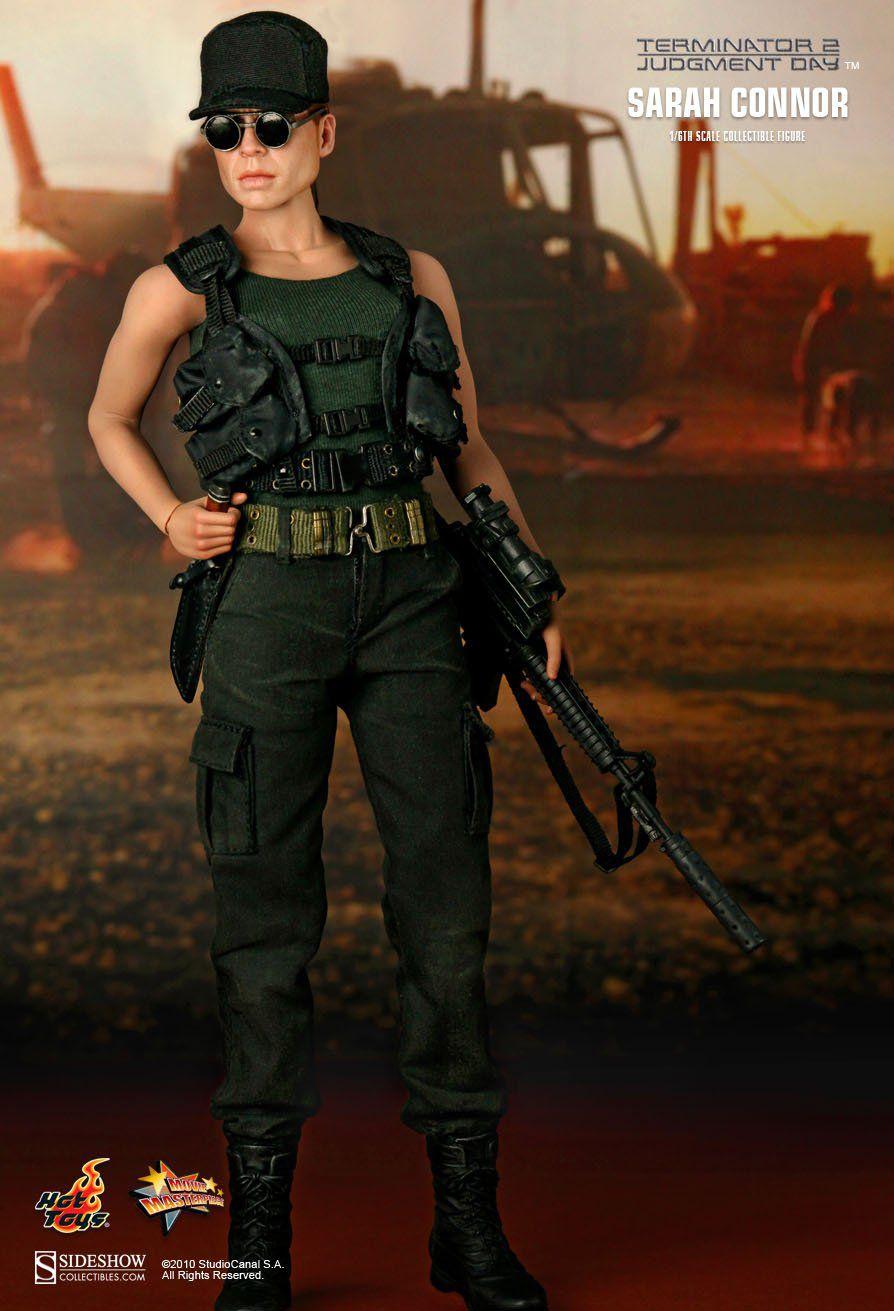 Boneco Sarah Connor: Exterminador do Futuro 2 (Terminator 2) (MMS119) Escala 1/6 - Hot Toys - CG
