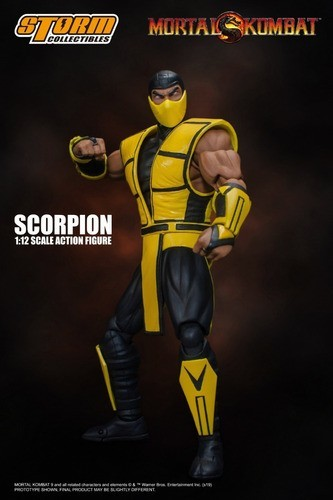 Action Figure Scorpion: Mortal Kombat Escala 1/12 - Storm Collectibles