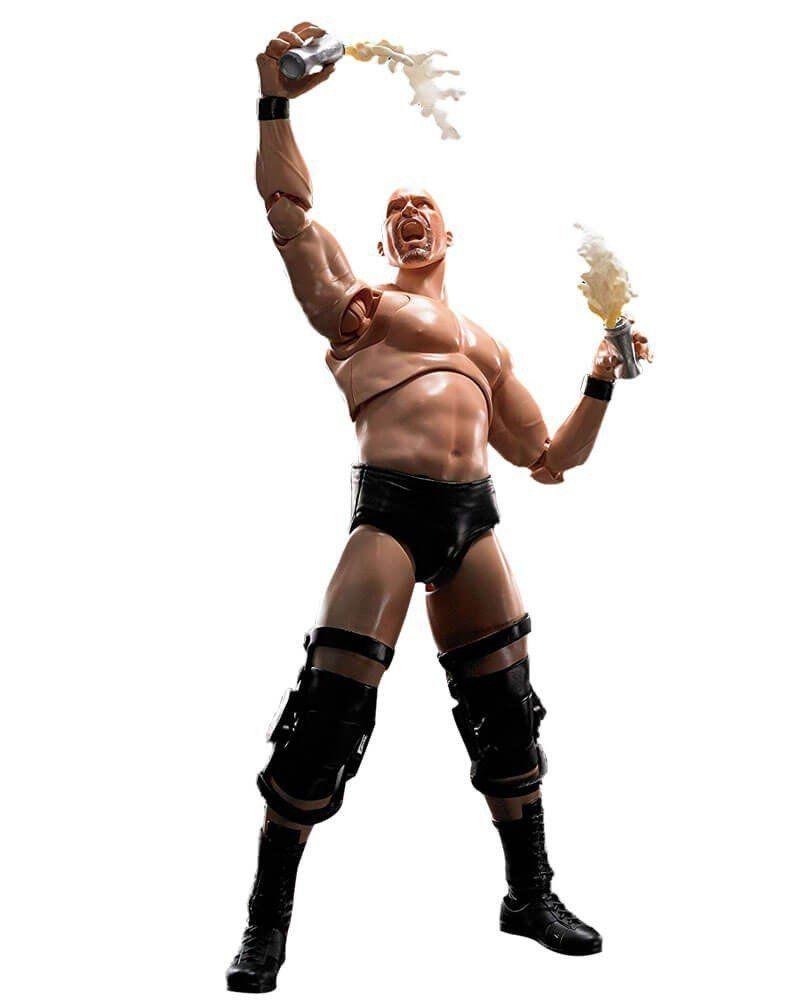 Boneco Stone Cold Steve Austin: WWE (World Wrestling Entertainment) S.H.Figuarts - Bandai - CD