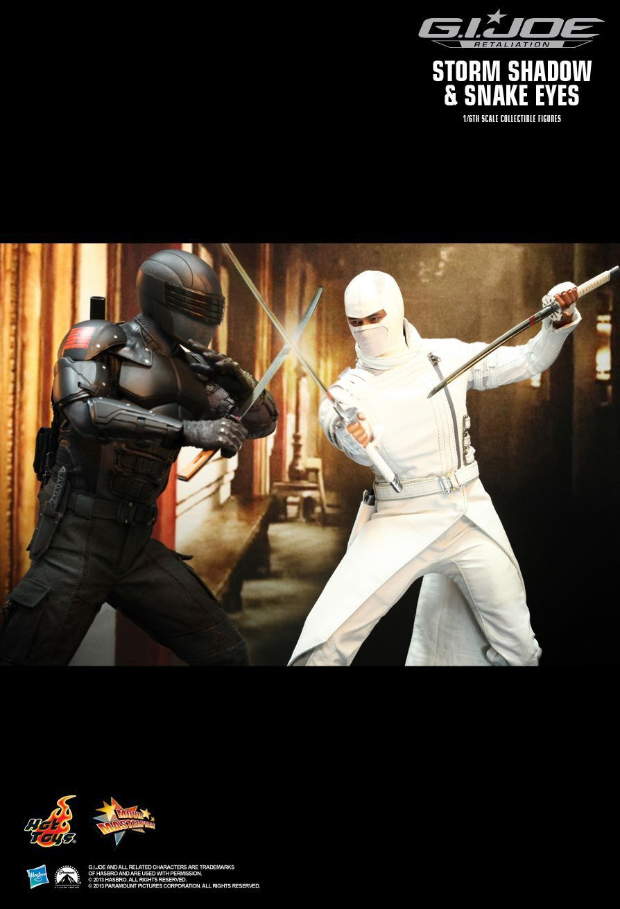 Action Figure Storm Shadow: G.I. Joe Retaliação (G.I. Joe Retaliation) Escala 1/6 (MMS193) Boneco Colecionável - Hot Toys