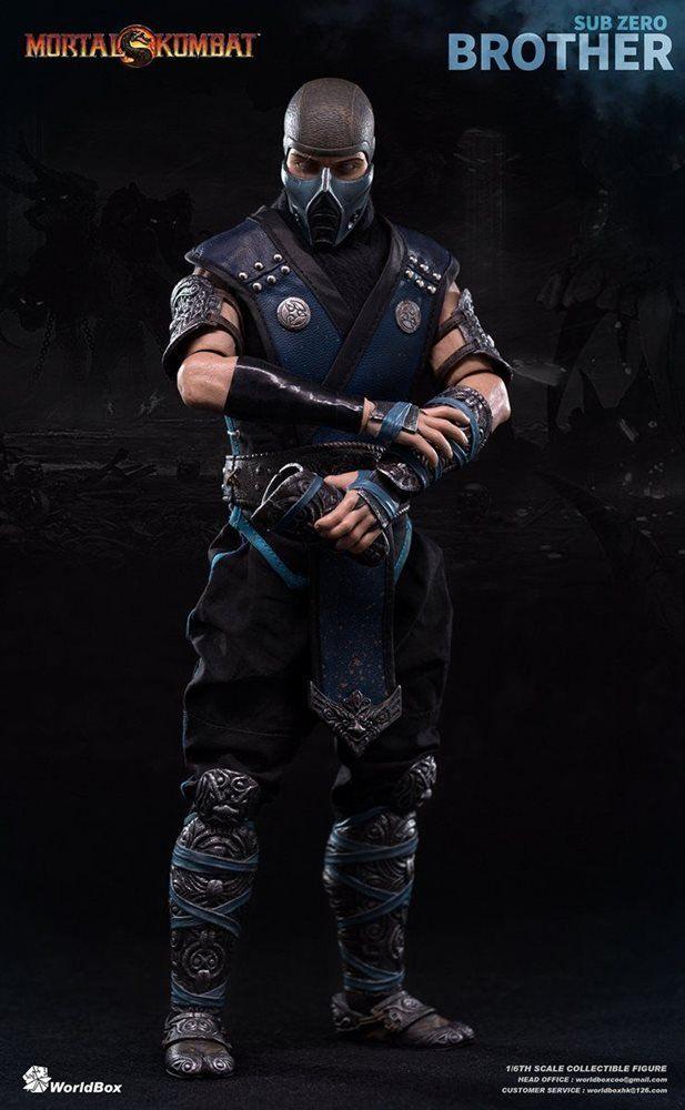 Action Figure Sub-Zero: Mortal Kombat Limited Edition (Escala 1/6) Boneco Colecionável - WorldBox