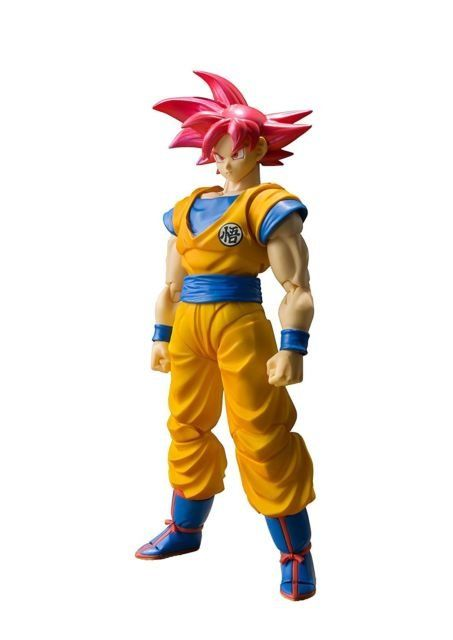 Boneco Super Saiyan God Son Goku Dragon Ball: S.H. Figuarts - Bandai
