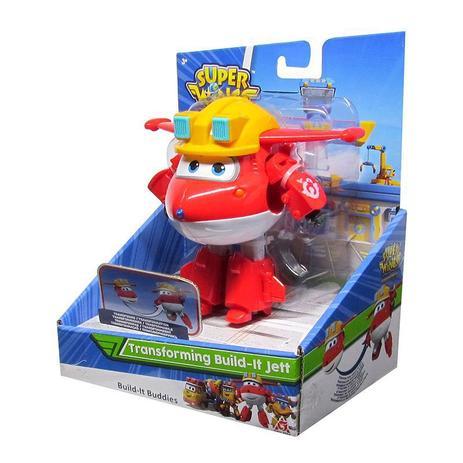 Boneco Super Wings: Build-It Buddies Jett  - Mattel