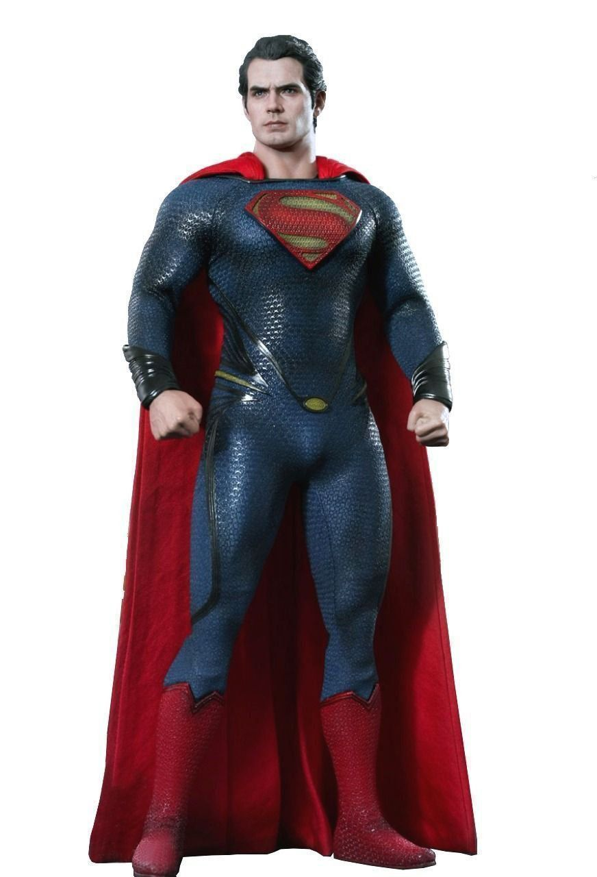 Action Figure Super-Homem (Superman): O Homem de Aço (Man Of Steel) Escala 1/6 (MMS200) - Hot Toys (USADO E SEM CAIXA)