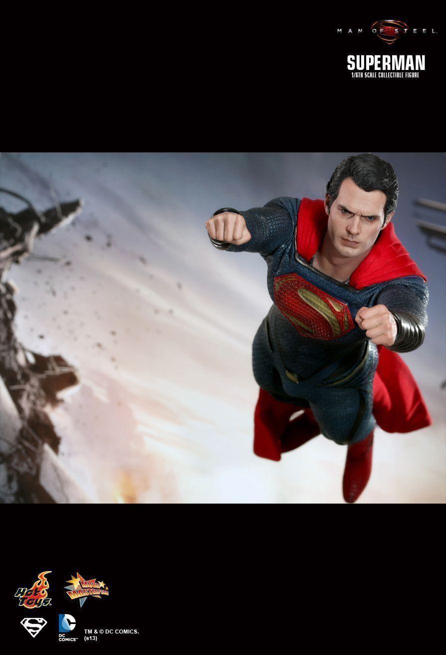 Boneco Super-Homem (Superman): O Homem de Aço (Man Of Steel) Escala 1/6 (MMS200) - Hot Toys - CG