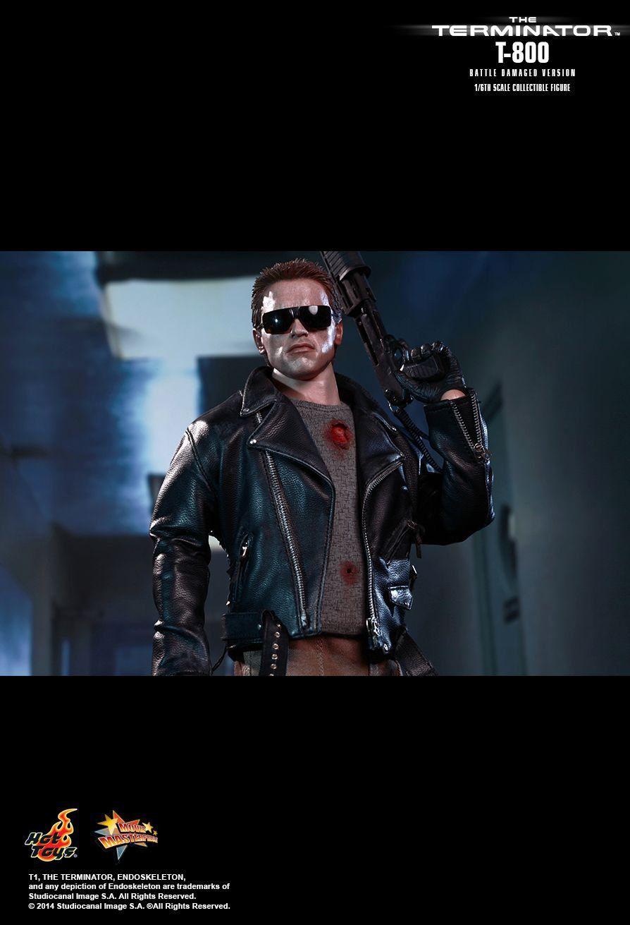Boneco T-800 (Battle Damaged Version): O Exterminador do Futuro (The Terminator) Escala 1/6 (MMS238) - Hot Toys - CG