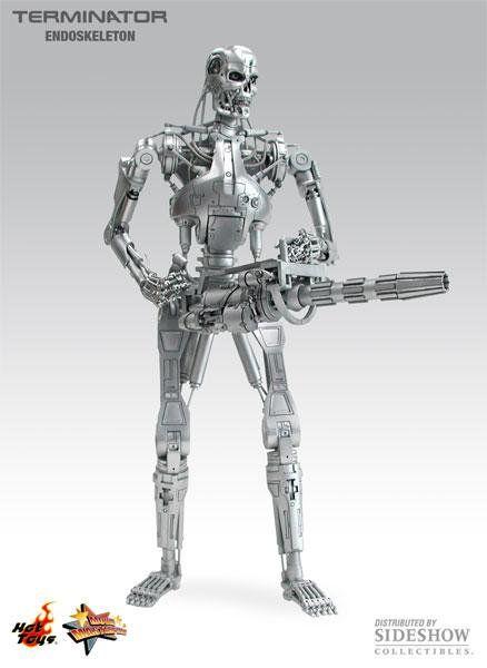 Boneco T-800 (Indestructible Endoskeleton): Exterminador do Futuro (Terminator) Escala 1/6 (MMS33) - Hot Toys - CG