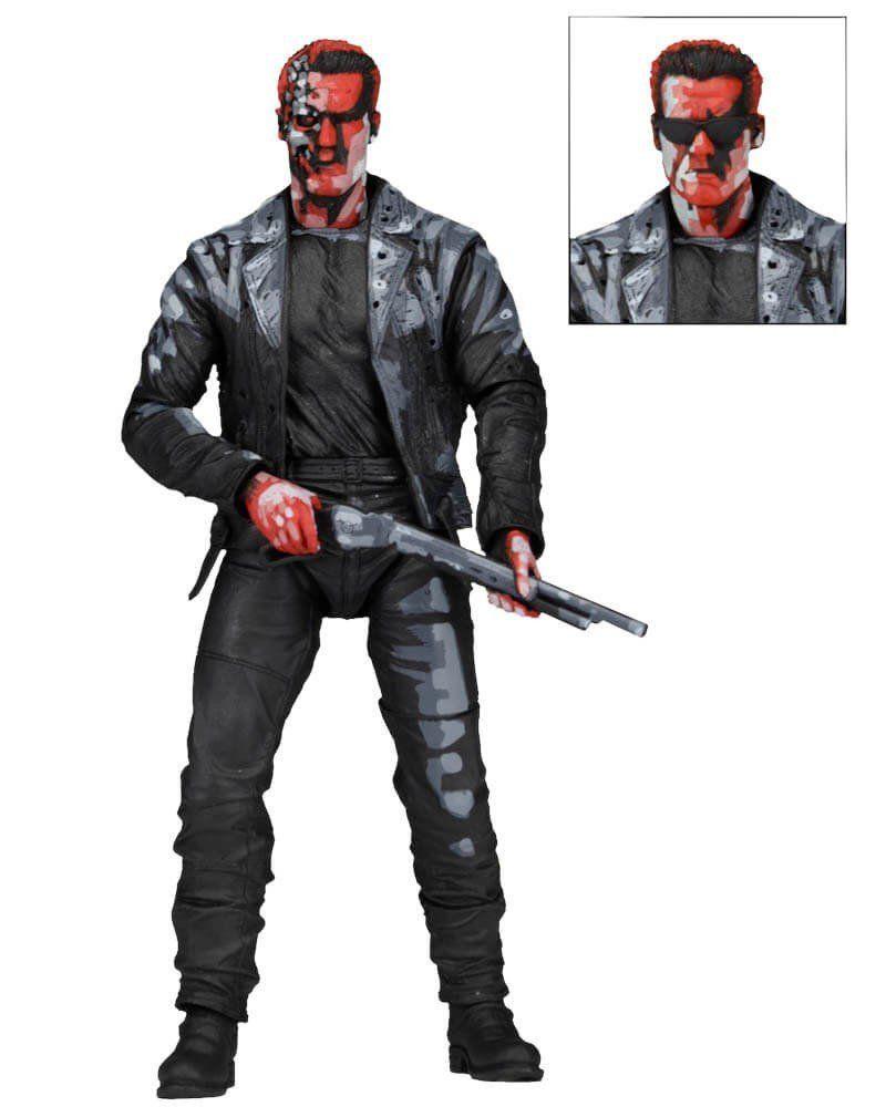 Boneco T-800 (Video Game Version): O Exterminador do Futuro 2 (Terminator 2) Escala 1/10 - NECA
