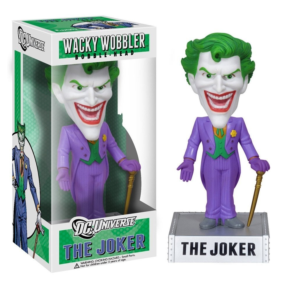 Funko Boneco The Joker (Coringa): Wacky Wobbler - Funko