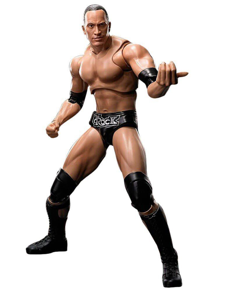 Boneco The Rock: WWE (World Wrestling Entertainment) S.H.Figuarts - Bandai - CD