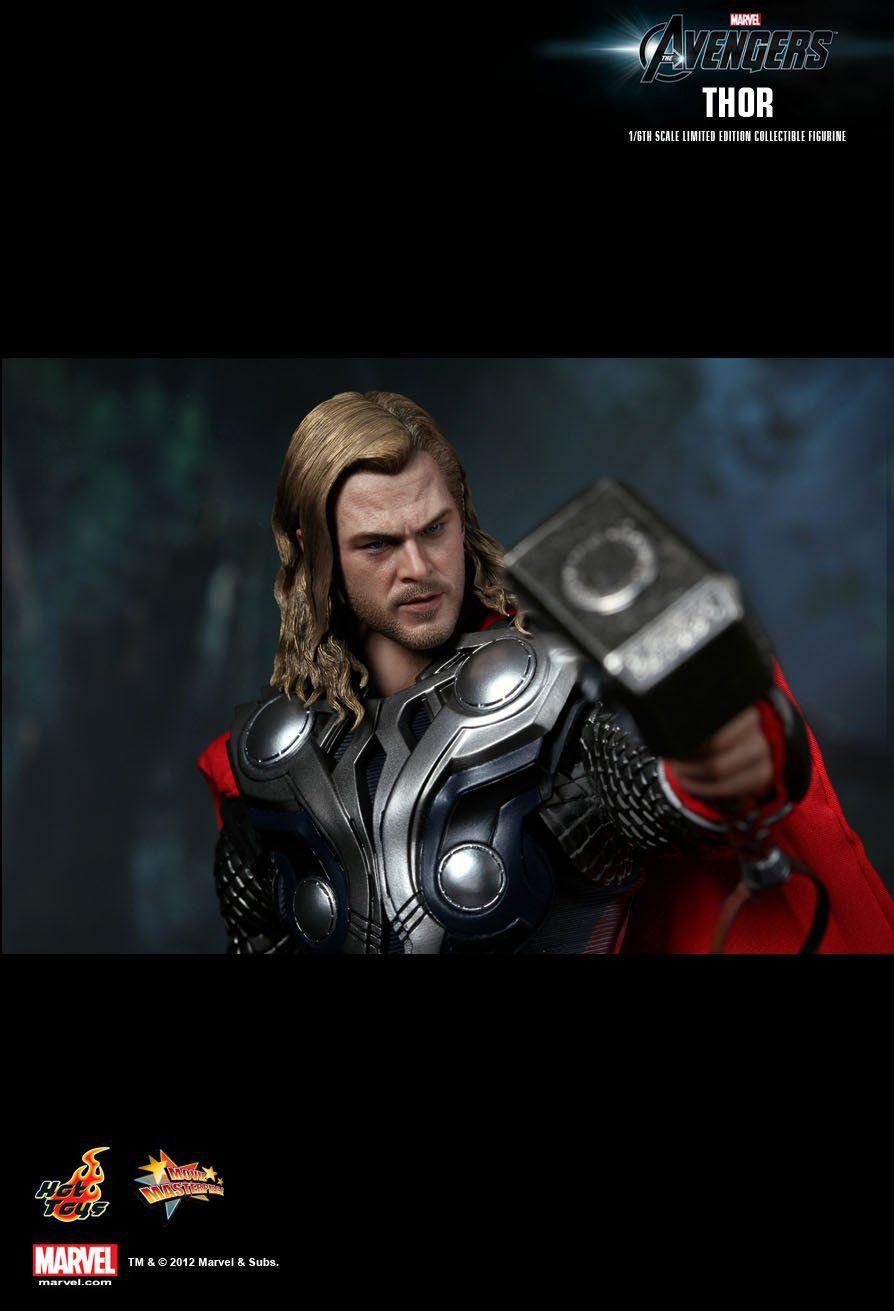 Action Figure Thor: Vingadores (Avengers) Escala 1/6 (MMS175) Boneco Colecionável - Hot Toys