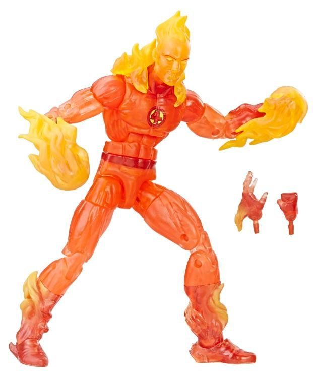 Boneco Tocha Humana (The Human Torch): Quarteto Fantástico (Fantastic Four) Marvel Legends Series - Hasbro
