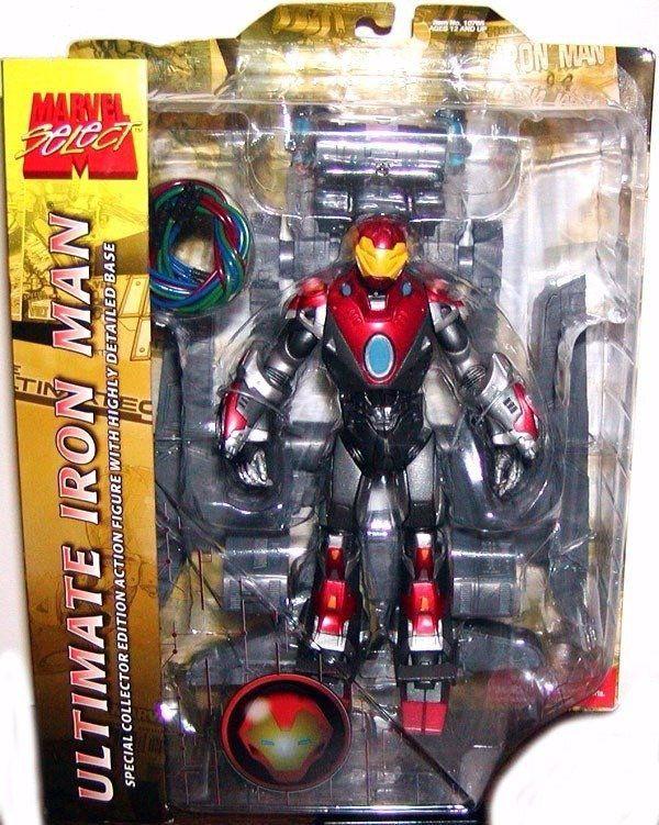 Boneco Ultimate Iron Man: Marvel Select - Diamond Select - CG