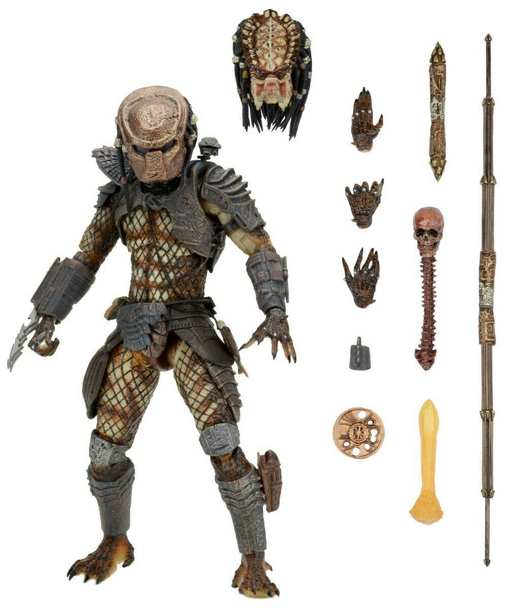 Action Figure Ultimate Predador (City Hunter): O Predador 2 (The Predator 2) Escala 1/10 - Boneco Colecionável - NECA (Apenas Venda Online)