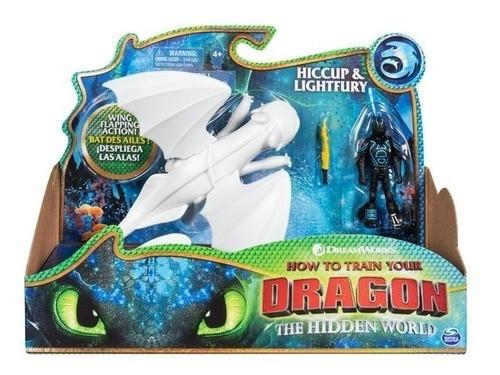 Boneco Viking E Dragão (Hiccup e Lightfury): Como Treinar o seu Dragão 3 - Sunny