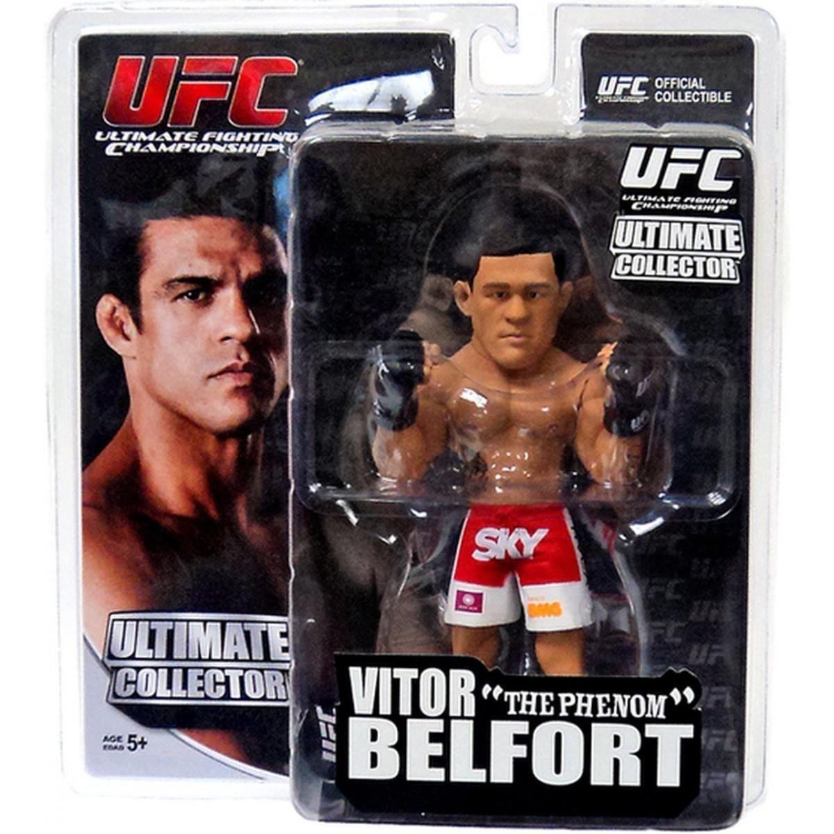 Boneco Vitor Belfort (The Phenom) Short Branco e Vermelho: UFC Ultimate Collector