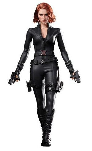 Action Figure Viúva Negra (Black Widow): Vingadores (Avengers) Boneco Colecionável Escala 1/6 (MMS178) - Hot Toys - CDL