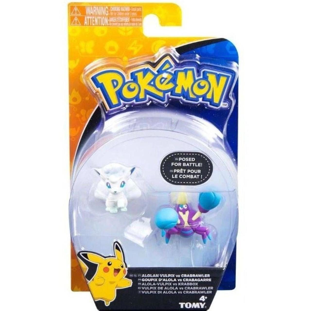 Boneco Vulpix Alola e Crabrawler: Pokémon (Sun e Moon) - Sunny