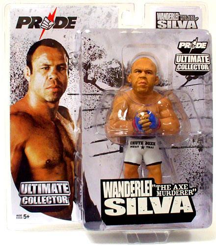 Boneco Wanderlei Silva (The Axe Murderer) Luva Azul: Pride Ultimate Collector - UFC